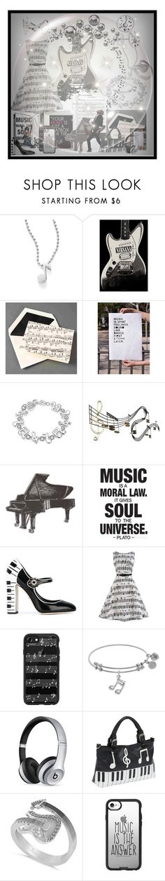 """Untitled #87"" by faizasufyan ❤ liked on Polyvore featuring Alex Woo, Music Notes, WithChic, C. Jeré, Dolce&Gabbana, Casetify, Beats by Dr. Dre, Ashley M and Allurez"