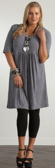CRINKLE DRESS - Dresses - My Size, Plus Sized Womens Fashion.  Oh, I do love this look!