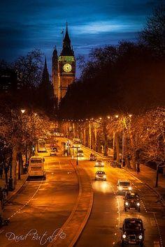 Big Ben by night, London, United Kingdom.