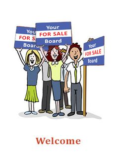 Welcome card for Estate Agents to send to their clients when instructed to sell a property. Reference number: W28