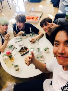 Suga, Jin, V, J-Hope