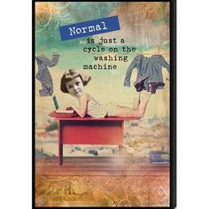 Artistic Reflections Just Sayin' 'Normal is Just a Cycle on the Washing Machine' by Tonya Framed Graphic Art