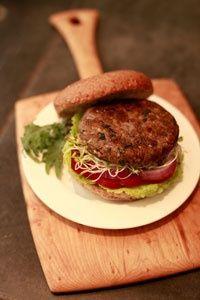Lentil-Mushroom Burgers  (from vegan ultramarathon champ Scott Jurek)