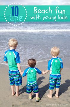 Heading to the beach with young kids? These tips will help the trip go more smoothly!