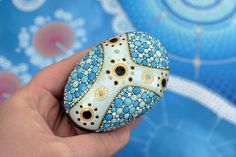 Snow drift  hand-painted stone by AnjaSonneborn on Etsy