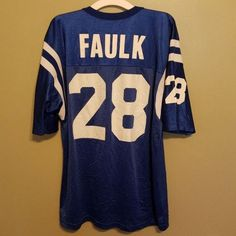 INDIANAPOLIS COLTS MARSHALL FAULK FOOTBALL JERSEY SIZE 44 ADULT CHAMPION