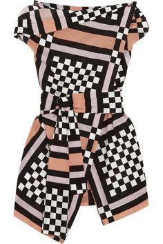 Vivienne Westwood Anglomania   Nomad draped printed cotton-voile blouse   NET-A-PORTER.COM