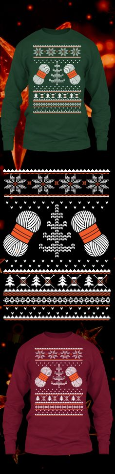 Knitting Christmas Sweater - Get this limited edition ugly Christmas Sweater just in time for the holidays! Only 2 days left for FREE SHIPPING, click to buy now!