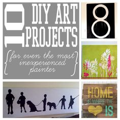 Diy art projects for the Most Inexperienced Painter. Fun home decor projects.