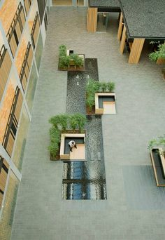 The Green Atrium That Defines the VAT83 Building, by PLH studio, Søborg, Copenhagen.