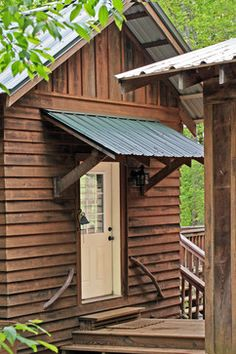 log awning | Atlanta Home Door awning Design Ideas, Pictures, Remodel and Decor