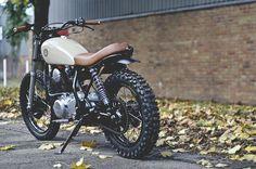 Custom Yamaha by Auto Fabrica - Custom Motorcycles & Classic Motorcycles - BikeGlam Moto Scrambler, Street Scrambler, Moto Bike, Motorcycle Camping, Café Racer 125, Cg 125 Cafe Racer, Cafe Racer Build, Bobber Custom, Scrambler Custom