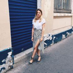 Sabina Socol wearing our summer skirt #tara_jarmon #spring #summer