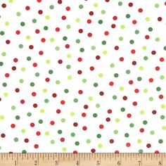Remix Tossed Dots Holiday Fabric