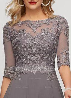 Mother Of The Bride Dresses Long, Vestido Casual, Chiffon Evening Dresses, Formal Dresses For Weddings, Floor Length Dresses, I Dress, Cute Dresses, Ideias Fashion, Scoop Neck