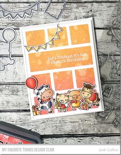 Stamps: Party Animals Die-namics: Party Animals, Collage Cover-Up Jodi Collins #mftstamps