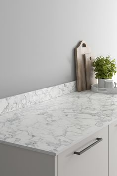 Looking for marble countertops ideas? Our Deep Veined White Marble Effect Compact Laminate Worktop looks amazing when paired with a dove grey slab kitchen and black kitchen hardware. These marble effect kitchen countertops are affordable and are perfect for creating your a waterfall worktop for a modern kitchen design. Laminate Installation, Kitchen Worktops, Kitchen Hardware, Marble Effect, Dove Grey, Work Surface, Work Tops, Marble Countertops, Black Kitchens