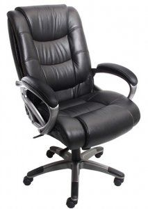 Mayline Ultimo 500 High-Back Leather Task Chair with Arms (Black leather/Slate frame), Safco Rolling Office Chair, Beach Chair With Canopy, Childrens Rocking Chairs, Toddler Table And Chairs, Upholstered Swivel Chairs, Steel Frame Construction, Conference Chairs, Conference Room, High Back Chairs