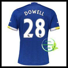 Fotballdrakter Everton DOWELL #28 Hjemmedraktsett 2016-2017 Everton, Premier League, Mens Tops, T Shirt, Supreme T Shirt, Tee Shirt, Tee
