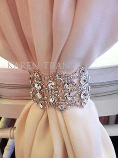 Curtain tie bling...  Stretch bracelet!  wakeupfrankie.com