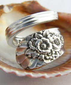 "Vintage Spoon Ring! Via Etsy Seller: ""California Spoon Rings"" Cute Bridesmaid Gift Idea!"