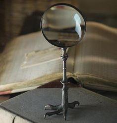 Adorn your office desk with a unique brass claw magnifying glass. Our vintage style magnifying glass is the perfect statement piece as it has lots of character! Magic Circle, Magic Loop, Gothic Home Decor, Gothic House, Haunted Mansion, Magnifying Glass, Macabre, Decoration, Shadow Box