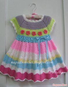 Источник: Magia do crochet. Автор:Nelia Botelho. Девочки, меня зовут Люба.  Предлагаю все таки связать это платье. Вот несколько подобных :