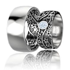 Verighete Lux Dreams aur alb Cufflinks, Aur, Wedding Rings, Engagement Rings, Floral, Accessories, Jewelry, Diamond, Enagement Rings