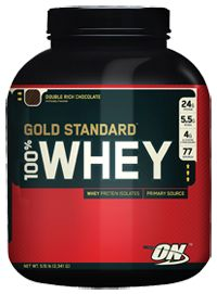 Optimum Nutrition 100% Whey Gold Double Rich Chocolate, 5.0 Pound , Powder - always look forward to this after a #P90x workout