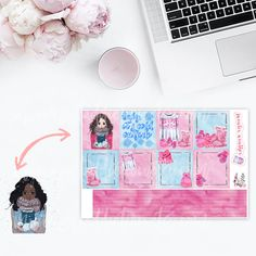 When it is cold outside there is nothing better than a sweater. These feminine sweater weather stickers will beautify your planner with pink and blue accents. Dont mention the cute furry boots, mittens, and other cold weather fashion. It has the option to personalize it a little further with choosing between caucasian and african american girls. This is the sheet with the decorative full boxes for horizontal erin condren life planners.  Each sheet measures approximately 4.5x7 inches. One…
