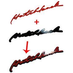 """Detailpart """"Hatchback"""" Lettering Car Emblem #Hatchback"""