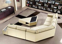 Tips That Help You Get The Best Leather Sofa Deal. Leather sofas and leather couch sets are available in a diversity of colors and styles. A leather couch is the ideal way to improve a space's design and th U Shaped Sectional Sofa, Beige Sectional, Corner Sectional Sofa, Leather Sectional Sofas, L Shaped Sofa, Modern Sectional, Sofa Chair, Swivel Chair, Luxury Sofa