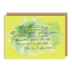 Define Your Life Greeting Card