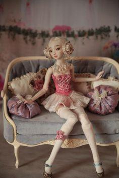 Enchanted doll by Marina Bychkova Clay Dolls, Doll Toys, Barbie Dolls, Blythe Dolls, Ball Jointed Dolls, Pretty Dolls, Beautiful Dolls, Enchanted Doll, Little Doll