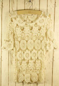 Retro Crochet Crop Top