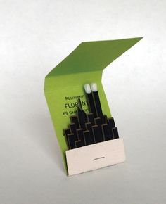 in this crazy town, anything goes!  florent matchbook art. (august 2013)