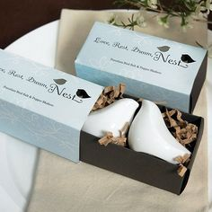 Love Birds Salt and Pepper Shakers by Beau-coup. $3.48 each...possibly a door or game prize for the shower.