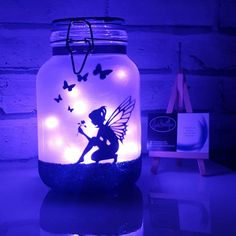 Mermaid night light a little mermaid lamp fairy lights jar mermaid gift mermaid bedroom decor a little mermaid nursery decor Fairy Lights In A Jar, Fairy Jars, Jar Lights, Fairy Light Jar, Little Mermaid Nursery, Mermaid Nursery Decor, Mermaid Bedroom, Pot Mason Diy, Mason Jar Crafts