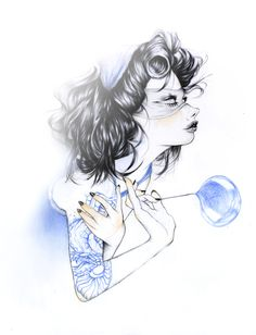 Tattooed women army by Anita Goldstein, #girl #fashion #ink #illustration