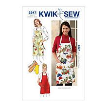 Buy Kwik Sew Apron & Oven Gloves Sewing Patterns, 3247 Online at johnlewis.com