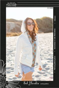 Sol Hoodie sewing pattern  Jamie Christina sewing by prettyditty, $14.95
