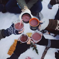 hot chocolate to sip on in the snow.