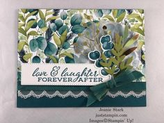 Forever Fern Forever After | Just Stampin' Homemade Wedding Gifts, Homemade Anniversary Gifts, Year Anniversary Gifts, Anniversary Ideas, Wedding Anniversary, Homemade Cards, Mary Fish, Stampin Pretty, Specialty Paper