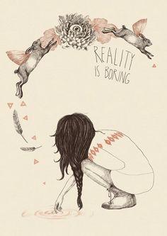 la réalité naît à tout instant de prise de distance à l'égard du  réel cerné & cernable, clôturé & séparé de ce qui va plus loin que la main qui touche, le nez qui flaire, les yeux qui voient, le coeur qui fait partie du système de circulation sanguine....
