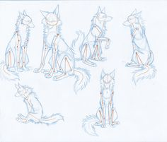 HowToDrawWolves: SittingPoses by ~Kimai on deviantART