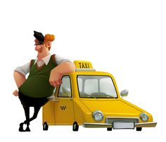 "Евгений Ткач ""такси"" http://illustrators.ru/users/jenya_tkach/portfolio"