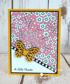 A CLASSIC LAYOUT! Click to see more cards made with this layout and a video tutorial with lots of great tips! YOu can order any supplies shown on my website too! www.AStampAbove.com