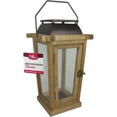Better Homes and Gardens Wood Lantern, Oil-Rubbed Bronze