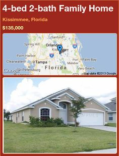 4-bed 2-bath Family Home in Kissimmee, Florida ►$135,000 #PropertyForSale #RealEstate #Florida http://florida-magic.com/properties/23583-family-home-for-sale-in-kissimmee-florida-with-4-bedroom-2-bathroom