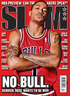 SLAM 143: Chicago Bull Derrick Rose appeared on the cover of the 143rd issue of SLAM Magazine (2010).